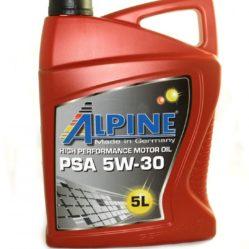 Масло моторное Alpine PSA 5W30 5л